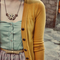 Moth Necklace Butterfly Pendant Autumn Wedding Neutral Warm Fall Colors Gift for Her