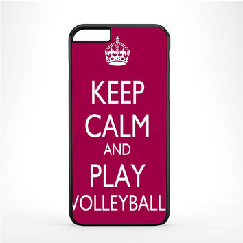 Keep Calm Play On Volleyball Purple Iphone 6 Plus | 6s Plus Case