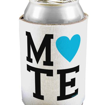 Matching Soulmate Design - Mate - Blue Can / Bottle Insulator Coolers by TooLoud