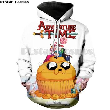 PLstar Cosmos 2018 Most popular Fashion Hoodie Cartoon Adventure Time 3d Print Men's women's casual hooded sweatshirt ZH877
