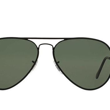 Ray Ban Aviator Sunglass Black Green Polarized RB 3025 002/58