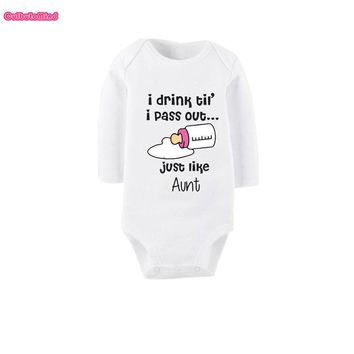Culbutomind I Love My Aunt Spring Autumn Long Sleeve Winter Clothes Newborn Aunt Baby Clothes Clothing Baby Rompers Girls