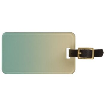 Xanadu Dark sea green Ecru color Luggage Tag