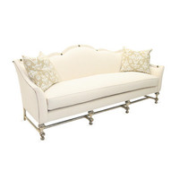 Sofa on Wooden Base by Old Hickory Tannery at Gilt