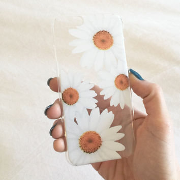 Clear Daisy iPhone Case