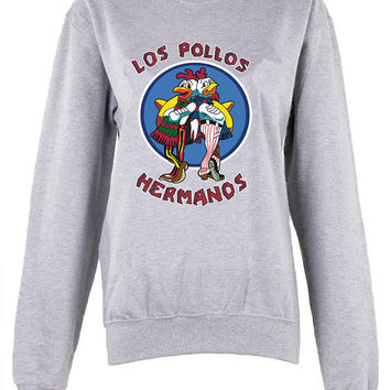 Breaking bad los pollos hermanos womens ladies  print shirt sweatshirt