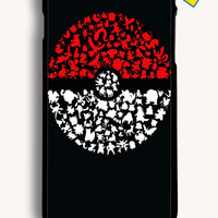 Who Is That Pokemon Ball Art for Iphone 6 Plus Cover Rubber Case