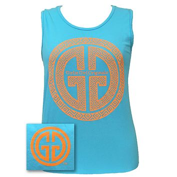 Girlie Girl Originals GGO Logo Tank Comfort Colors Lagoon Blue Bright Tank Top
