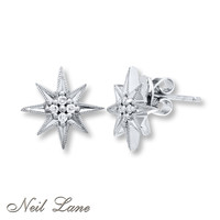 Neil Lane Designs 1/10 ct tw Diamonds Sterling Silver Earrings
