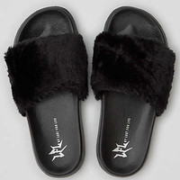 LFL by Lust For Life Faux Fur Slide, Gray