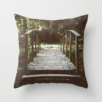 Bridge over troubled waters Throw Pillow by HappyMelvin