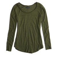 AEO Factory Long Sleeve Panel T-Shirt