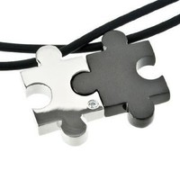 M+Y STEEL Original Love Puzzle Couples Pendant