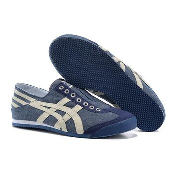 Original Asics Onitsuka Tiger Canvas Low Top Sport Shoes Sneakers 8