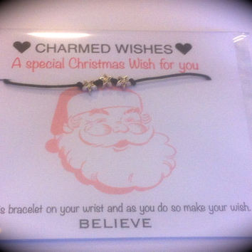 Star wish bracelet | Christmas stocking filler | Christmas gift | Christmas bracelet | Friendship bracelet | Christmas card | Santa gift