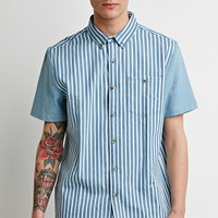 Stripe Denim Shirt | 21 MEN - 2000132047
