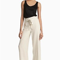 Pinstriped trousers - Natural white/Striped - Ladies | H&M GB