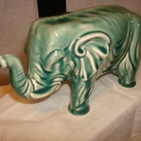 Vintage Good Luck Elephant Ceramic Figurine
