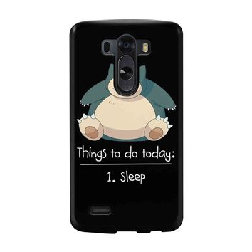 Things To Do Today Sleep Pokemon Snorlax LG G3 Case