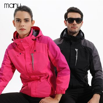 2018 Men's Women Winter Inner Fleece Waterproof Jacket Outdoor Sport Warm Brand Coat Hiking Camping Trekking Skiing Male Jackets