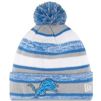 Mens Detroit Lions New Era Gray On-Field Sport Sideline Cuffed Knit Hat