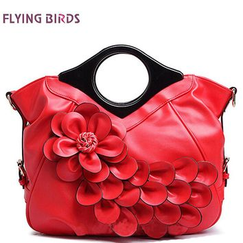 FLYING BIRDS Womens Elegant Leather Flower Retro Wedding Tote Embossed Handbag LM3161fb
