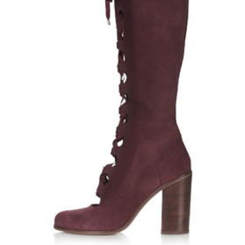 CROW Ghillie High Leg Boots - Bordeaux