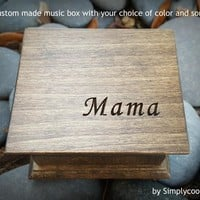 Custom Music Box - Engraved Box - Music Box Songs - A Gift For Mom - Expecting Mom Gift - Music boxes - Mama Music Box - Wooden Music Box