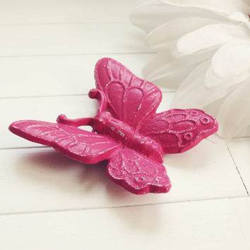 Vibrant Pink Butterfly Wall Hanging / Garden Decor / Home Decor / Woodland / Butterfly Decoration / Butterflies Wall / Pink Home Decor