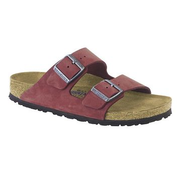 Birkenstock Classic Arizona Nubuck Leather Soft Footbed Regular Fit Rosewood - Beauty