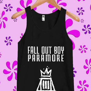 Fall Out Boy Paramore Tanktop, Tanktop Men, Tanktop Women, Tanktop Girl, Men Tanktop, Girl Tanktop