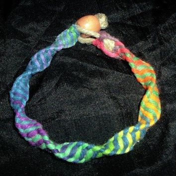 DNA Strand Hemp Bracelet made with Phat Thick Rainbow by psysub