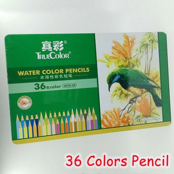 [TrueColor] 36 Colors/Box Water Color Pencils Sets Painting Colorful Watercolor Pen Professional Drawing Supplies 4576-36