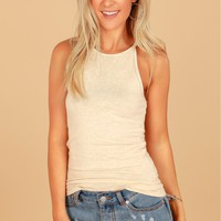 High Neck Cami Oatmeal
