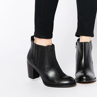 Dune Nebraska Heeled Leather Ankle Boots