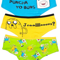 Undergirl Adventure Time The Bombastic Hipster Brief 3pack Multi
