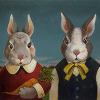 Bunny Rabbit Couple Portrait