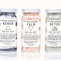 Dead Sea Bath Salt Set. 3 Types. Essential Oils. 100% Natural Vegan Handmade.