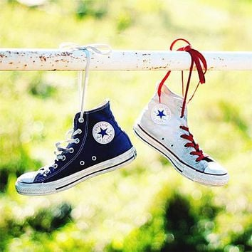 Converse Fashion Canvas Flats Sneakers Sport Shoes High tops-7