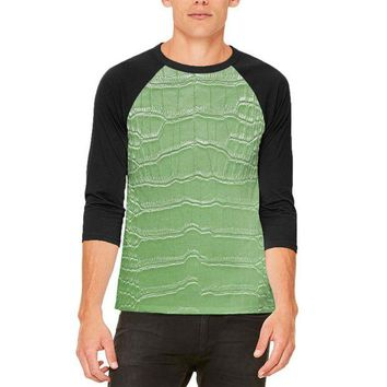 DCCKJY1 Halloween Alligator Costume Mens Raglan T Shirt