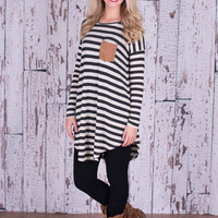 American Honey Tunic - Black/Oatmeal
