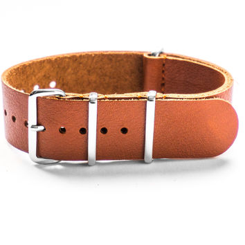 LEATHER NATO STRAP MAHOGANY