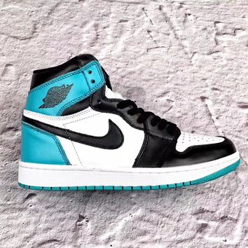 Air Jordan Retro 1 High OG Mint Blue  Basketball Sneaker