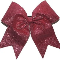 Custom Texas Size, Standard Size, Youth Size, and Pig Tail Hair Bows for Cheer / Dance by POWERBows - Hope
