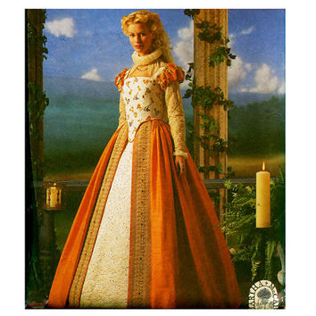 RENAISSANCE DRESS PATTERN Elizabethan from Design Rewind Fashions