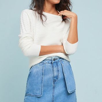 Slim Boyfriend Denim Skirt