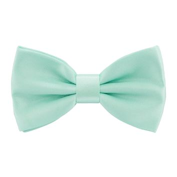 Satin Mint Bow Tie