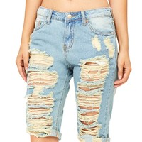 Wrecked Board Bermuda Shorts