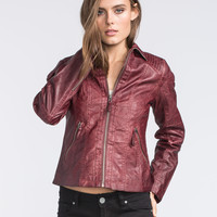 SEBBY Faux Leather Jacket 245445320 | Royal Nomads