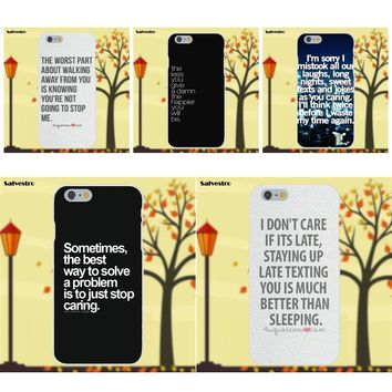 Soft Design Customized I Don't Care Quotes Tumblr For Apple iPhone 4 4S 5 5C SE 6 6S 7 8 Plus X Galaxy Grand Core II Prime Alpha